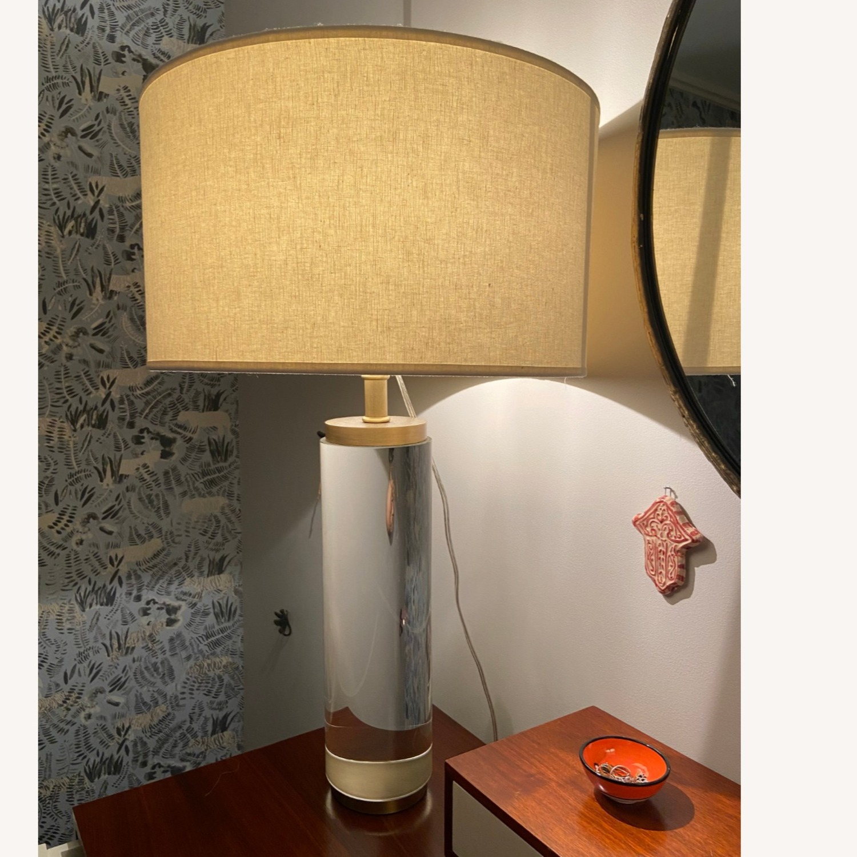Restoration Hardware Crystal Table Lamp - image-5
