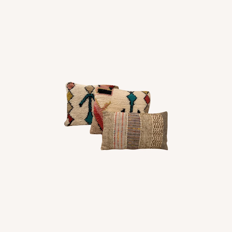 World Market Boho Textured Pillows - image-0