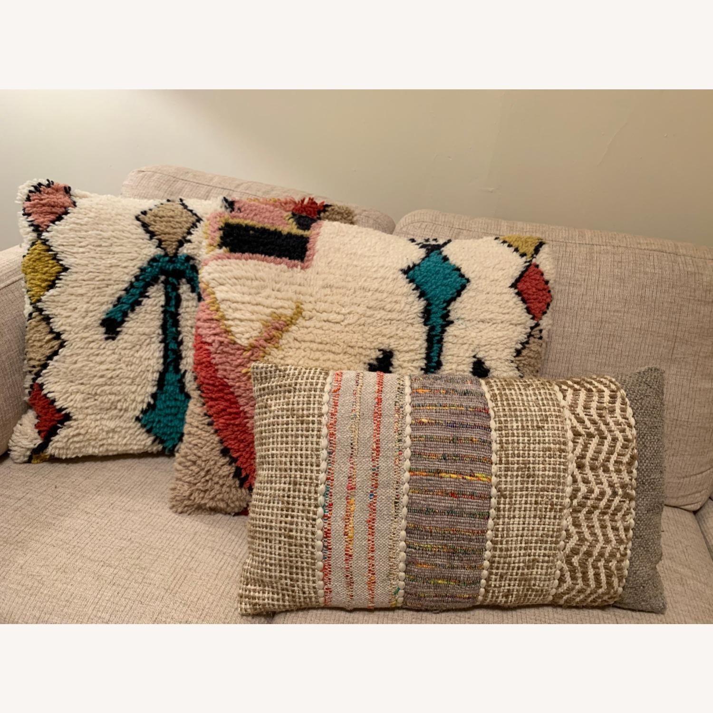 World Market Boho Textured Pillows - image-1