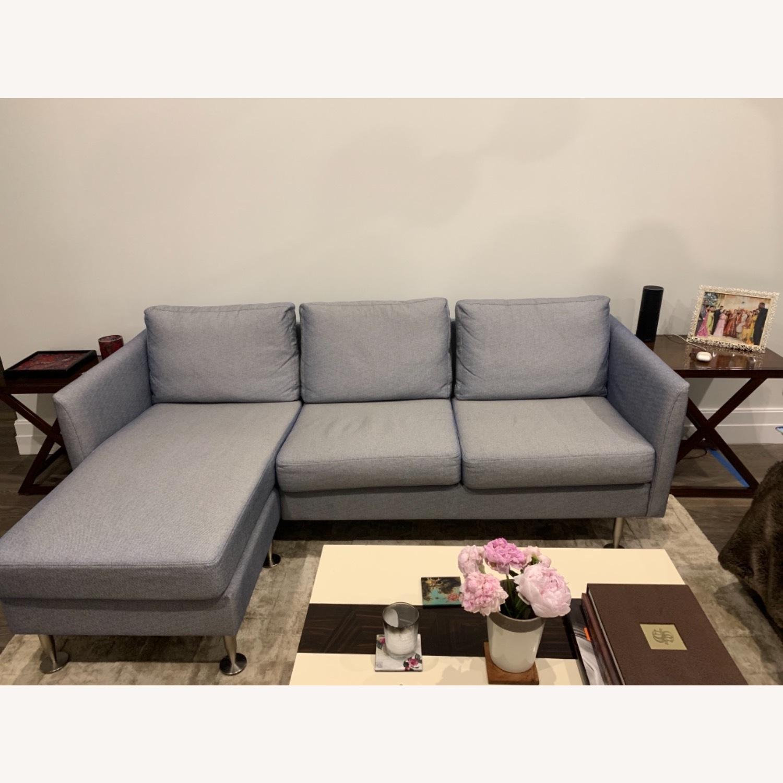 BoConcept Blue Chaise Sectional Sofa - image-1