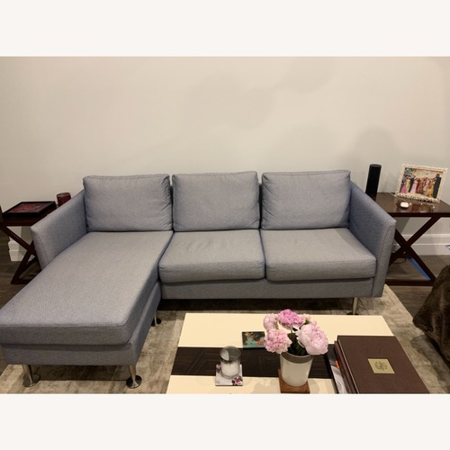 Used BoConcept Blue Chaise Sectional Sofa for sale on AptDeco