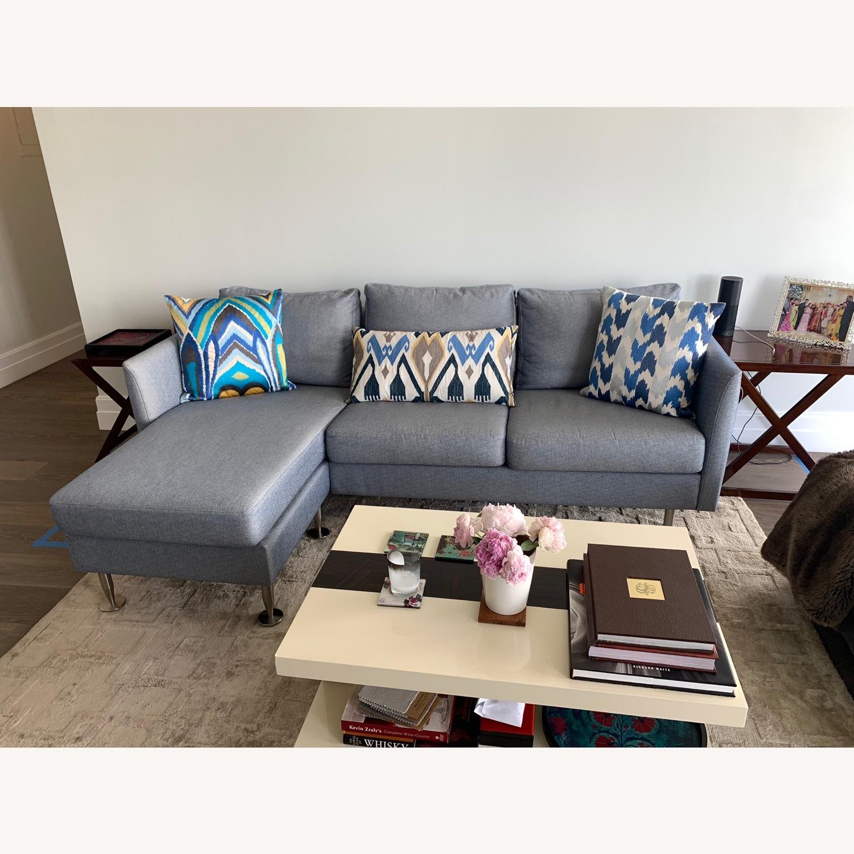 BoConcept Blue Chaise Sectional Sofa - image-0
