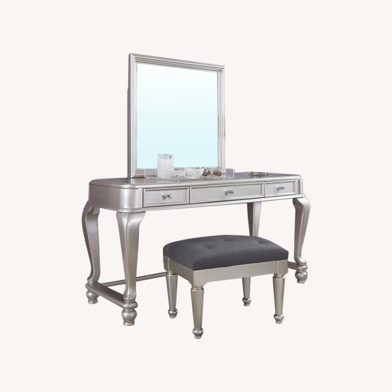 Ashley Furniture Coralayne Vanity with Seat - image-0