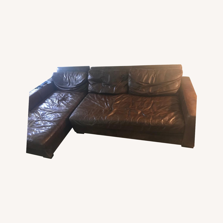 Restoration Hardware 2 Piece Leather Sectional - image-0