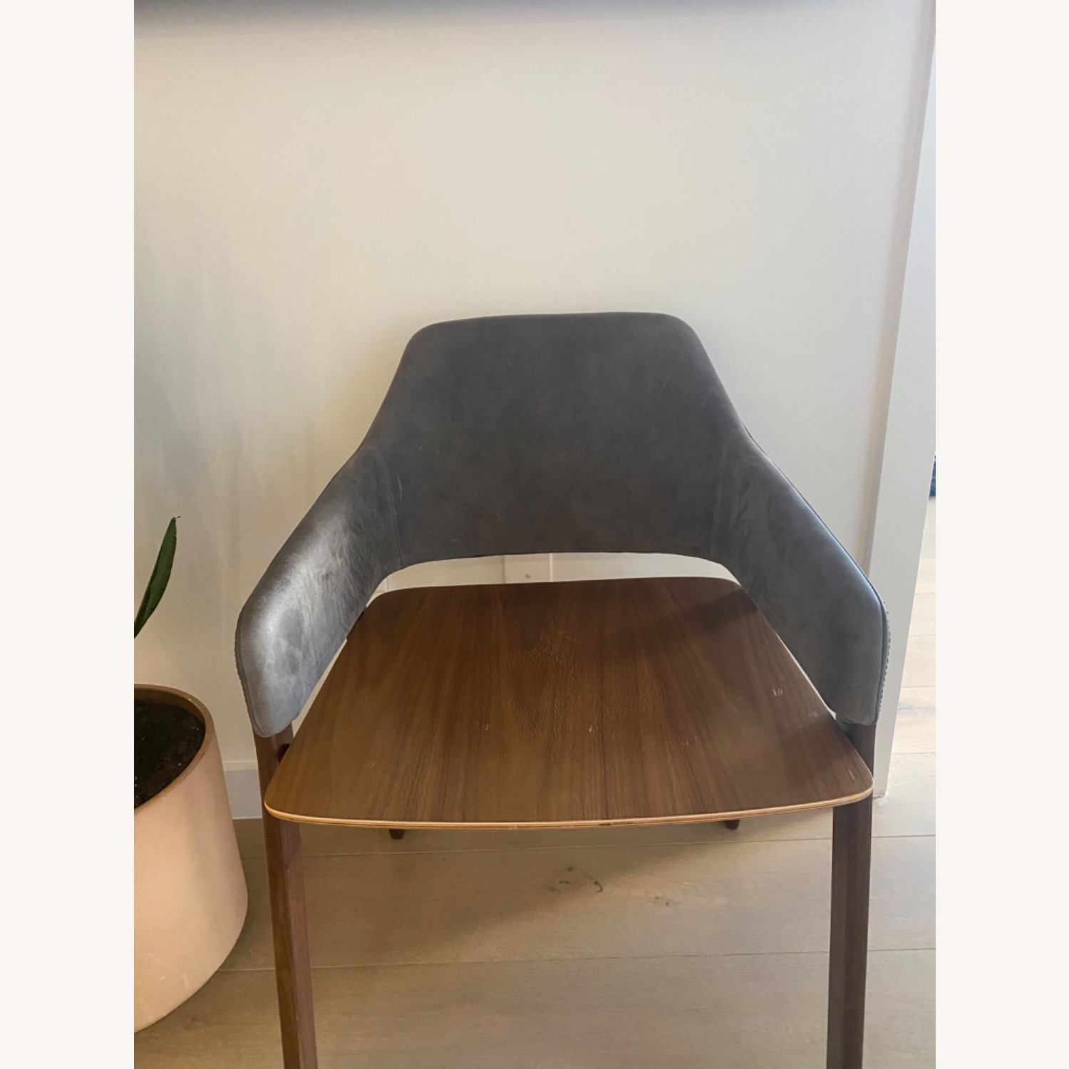 Blu Dot Clutch Leather Dining Chair - image-4