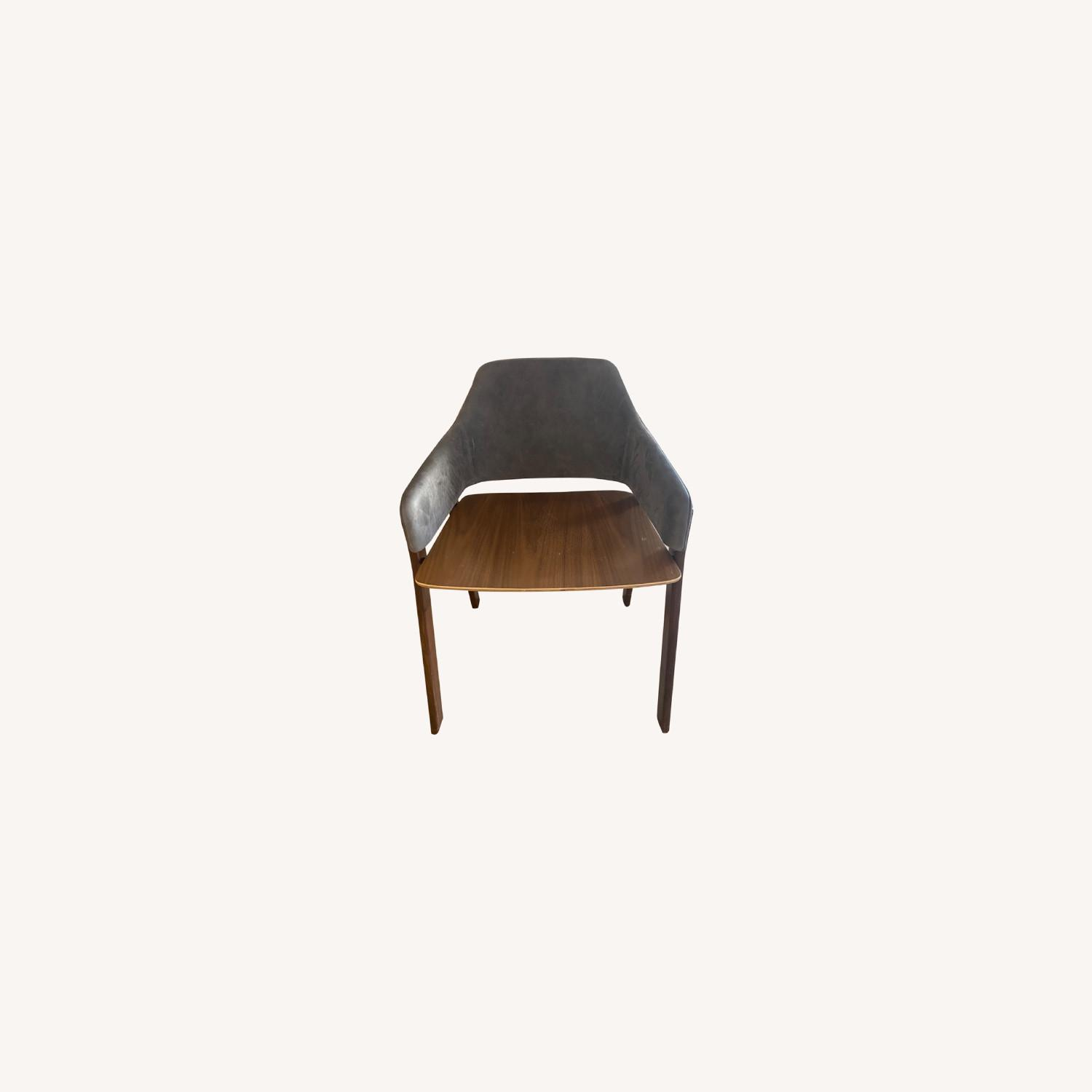 Blu Dot Clutch Leather Dining Chair - image-0