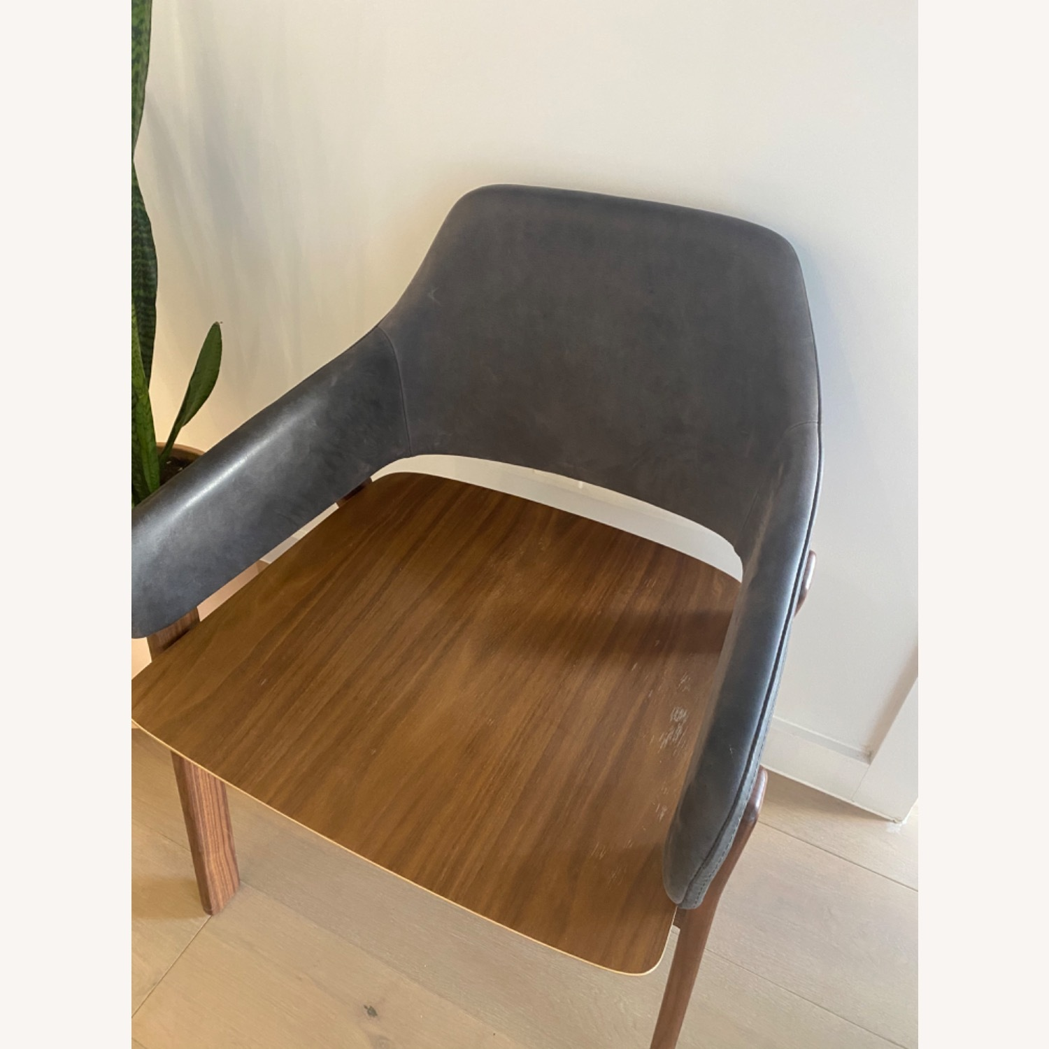 Blu Dot Clutch Leather Dining Chair - image-9