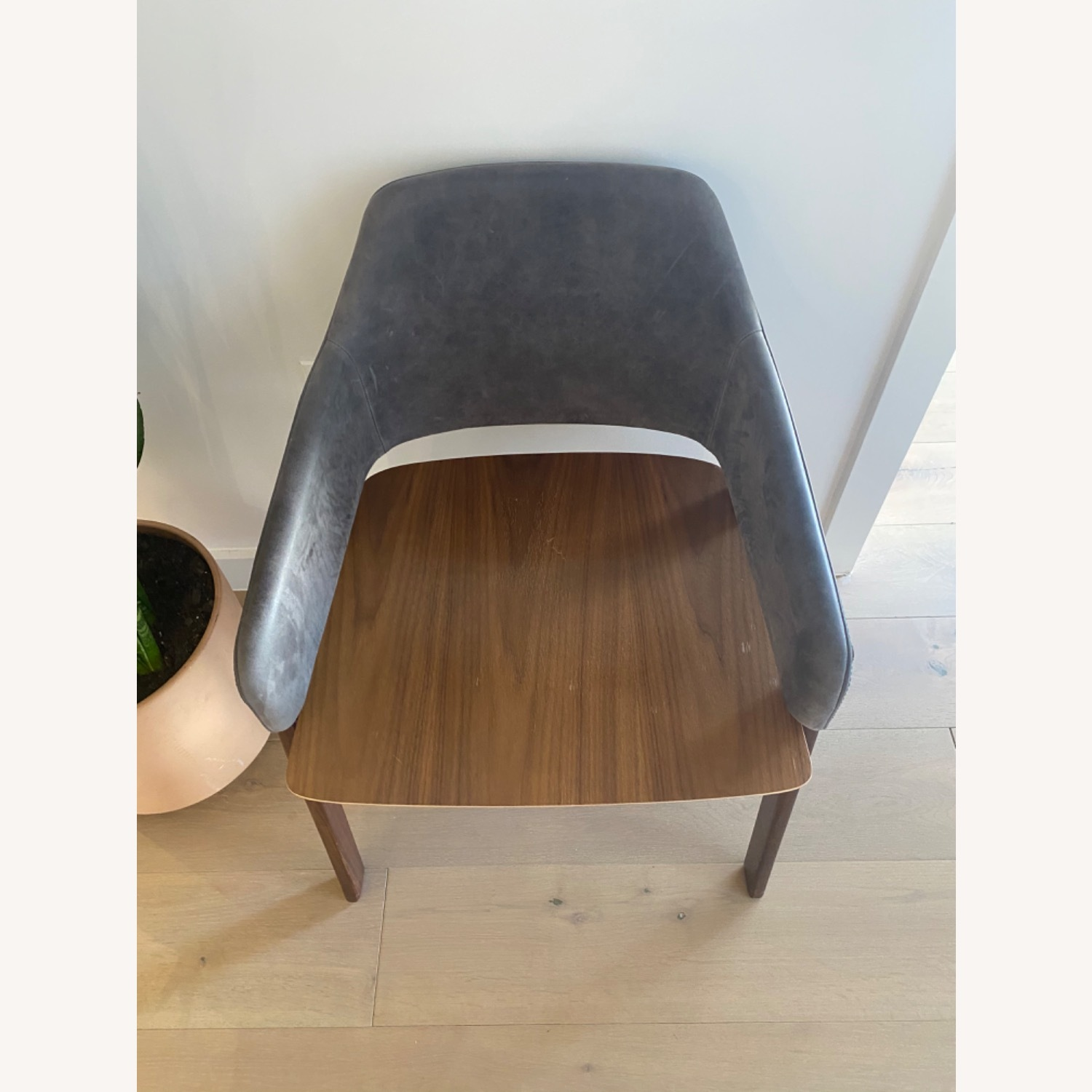 Blu Dot Clutch Leather Dining Chair - image-3