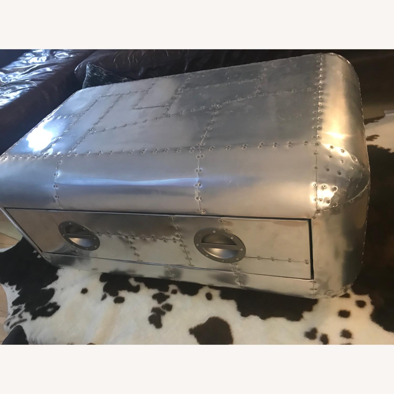 Restoration Hardware Aluminum Coffee Table - image-1