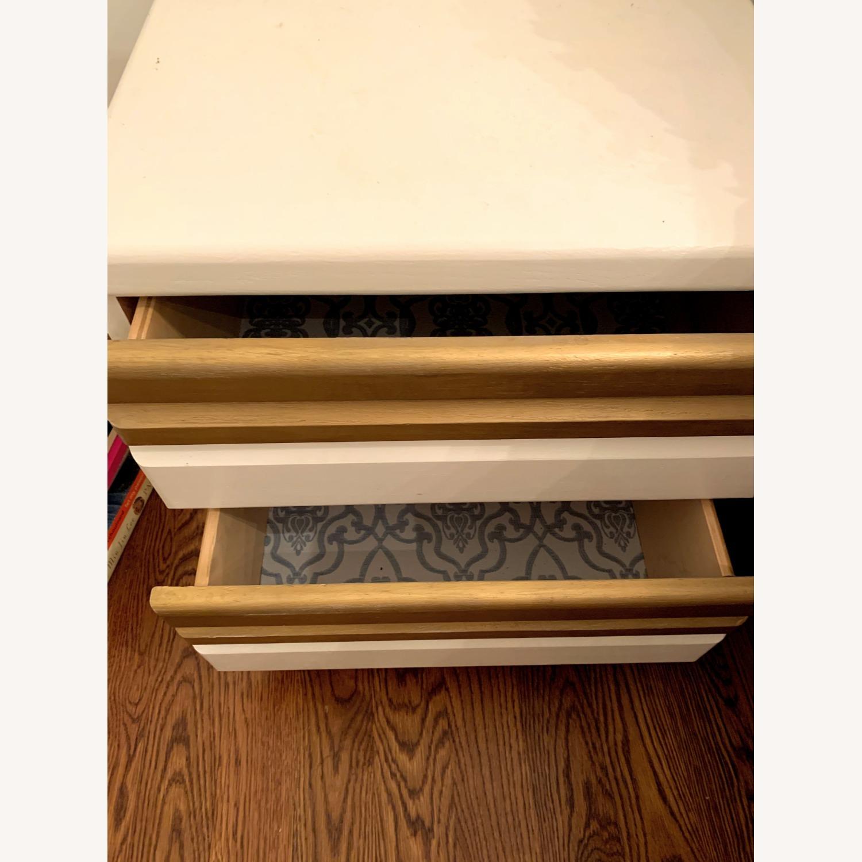 Vintage Boho White/Gold Bed Side Tables - image-4