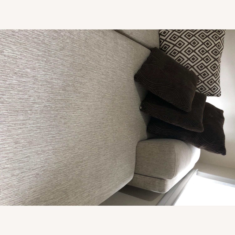 Raymour & Flanigan Beige Comfortable Sectional Sofa - image-4