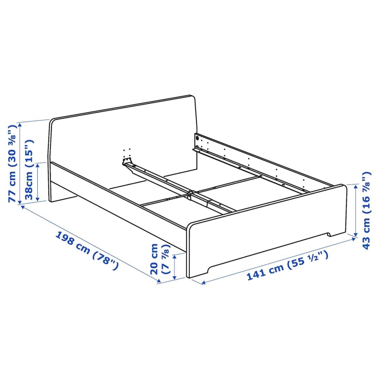 IKEA ASKVOLL Bed Frame Full - image-2