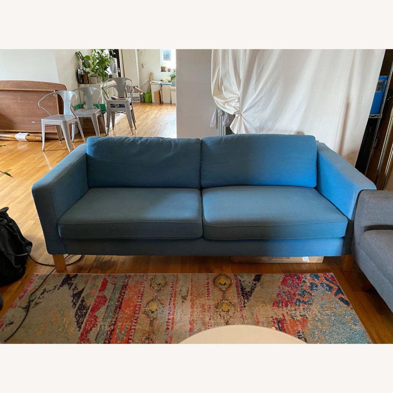 IKEA Blue Karlstaad Sofa - image-2