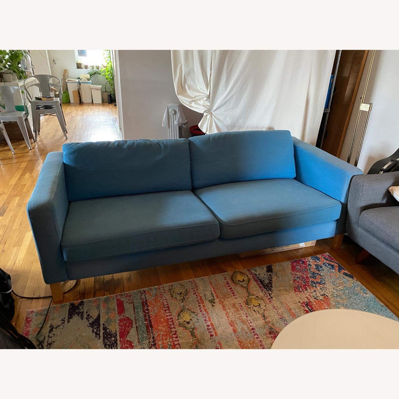 IKEA Blue Karlstaad Sofa - image-1