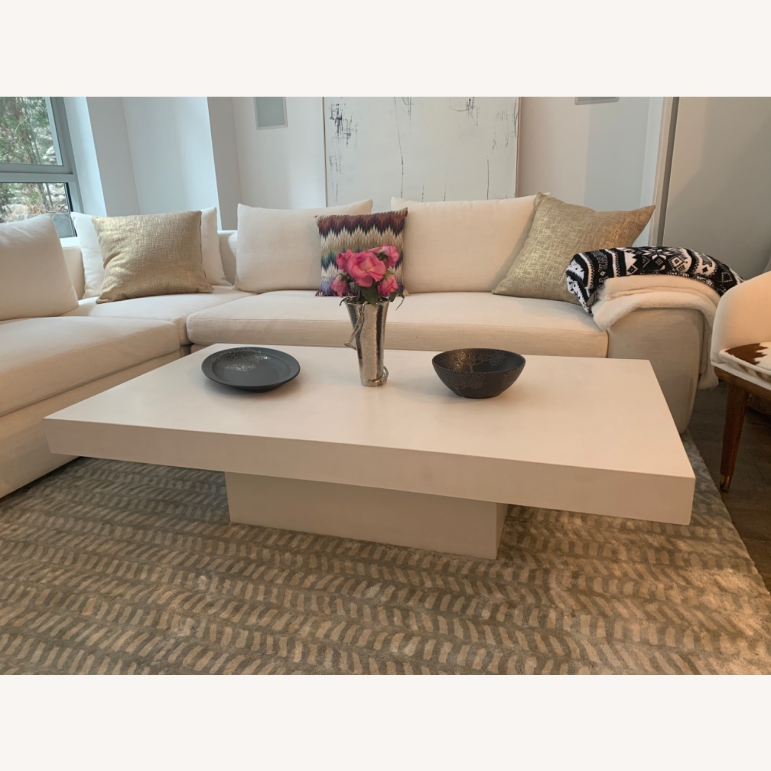 CB2 Element Ivory Coffee Table - image-1