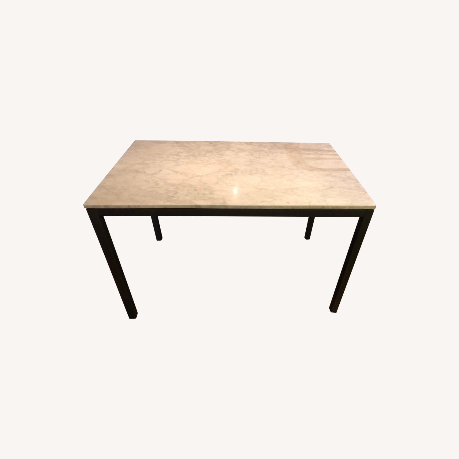 West Elm Marble Dining Table - image-0