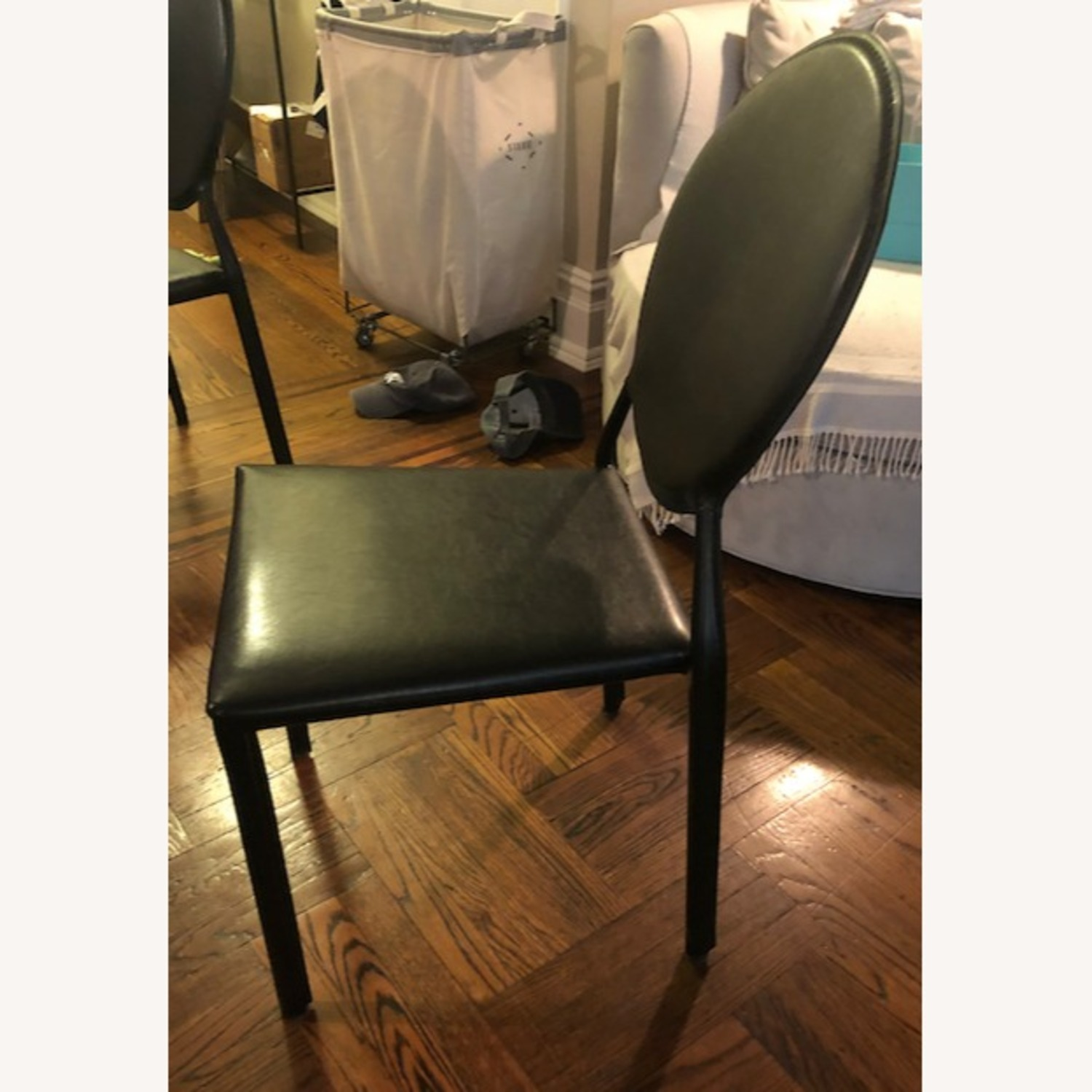 Safavieh Black Leather Dining Chairs - image-3