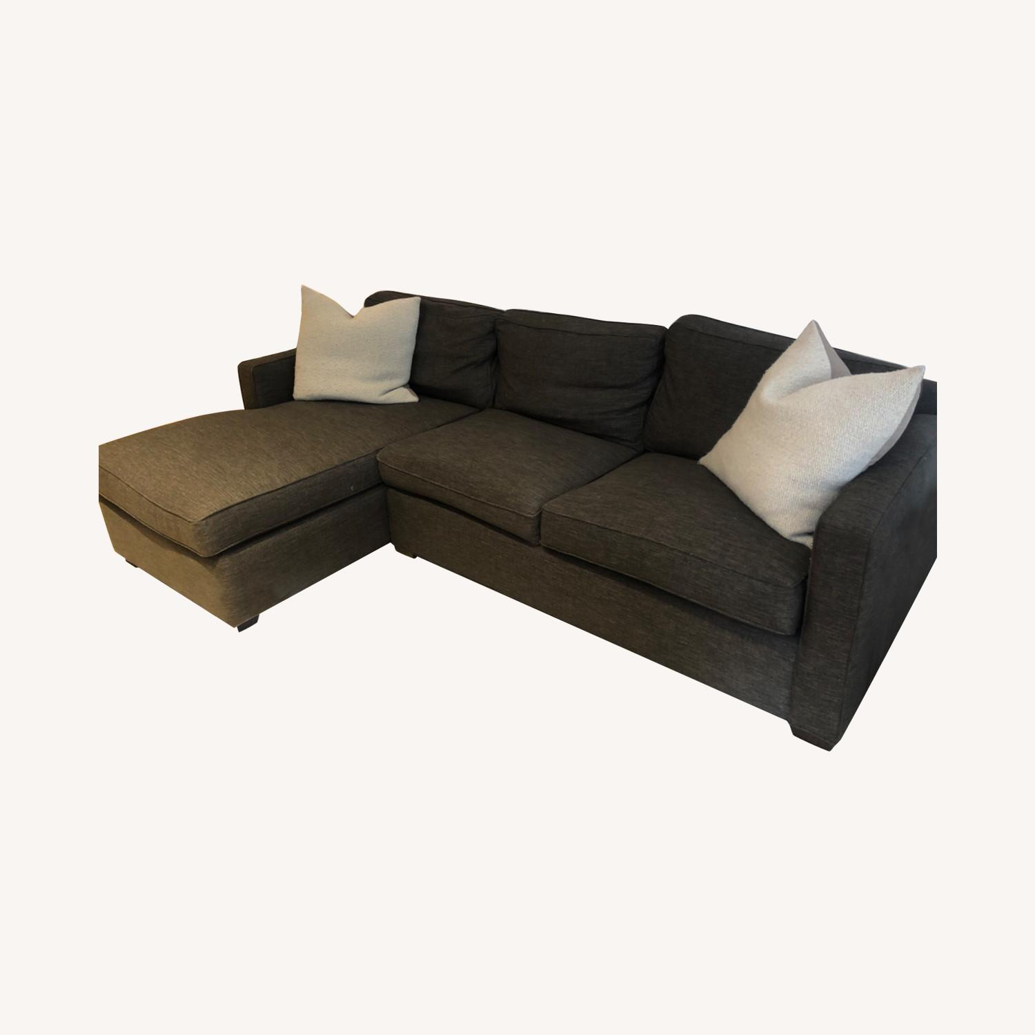Crate and Barrel Sectional Sofa - image-0