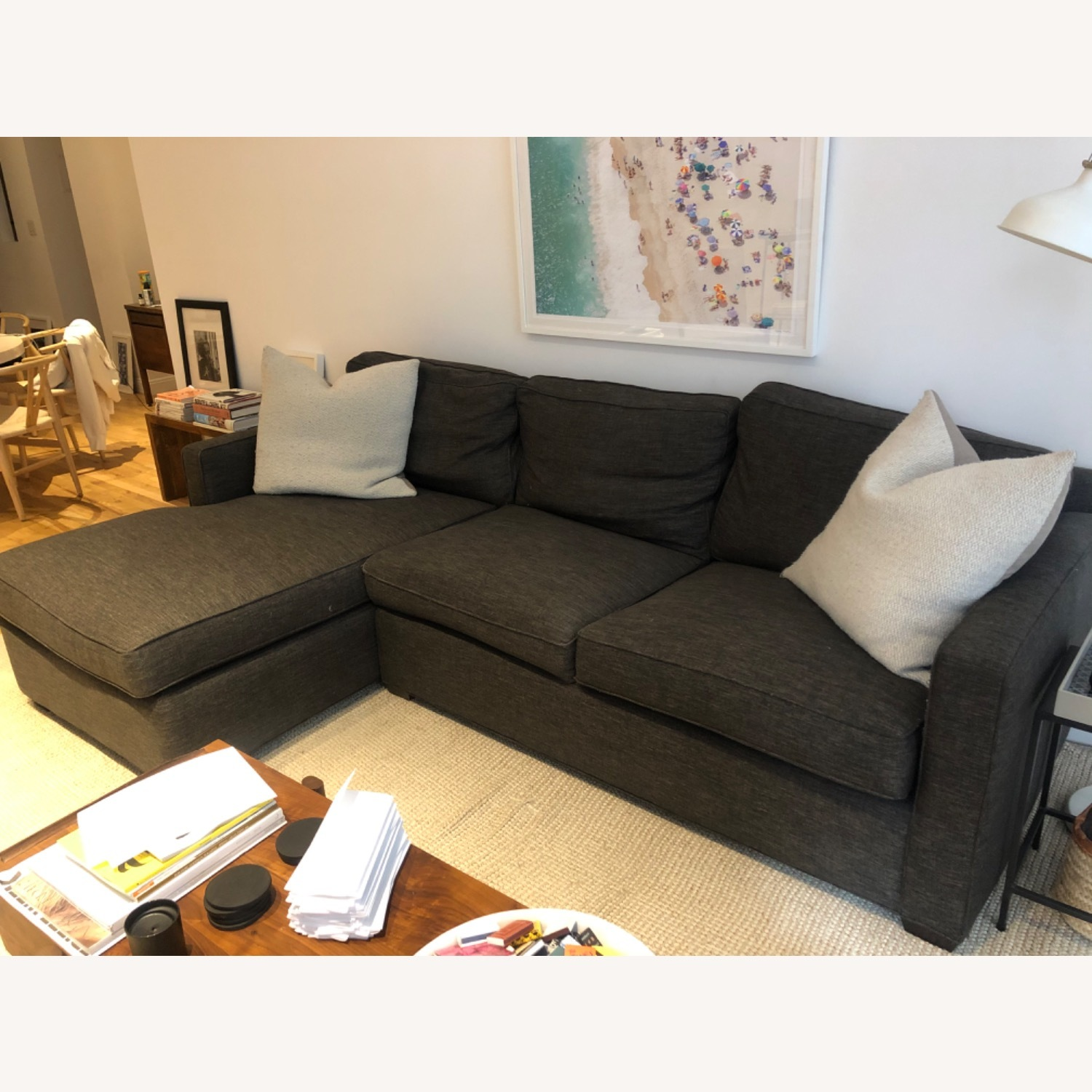 Crate and Barrel Sectional Sofa - image-3