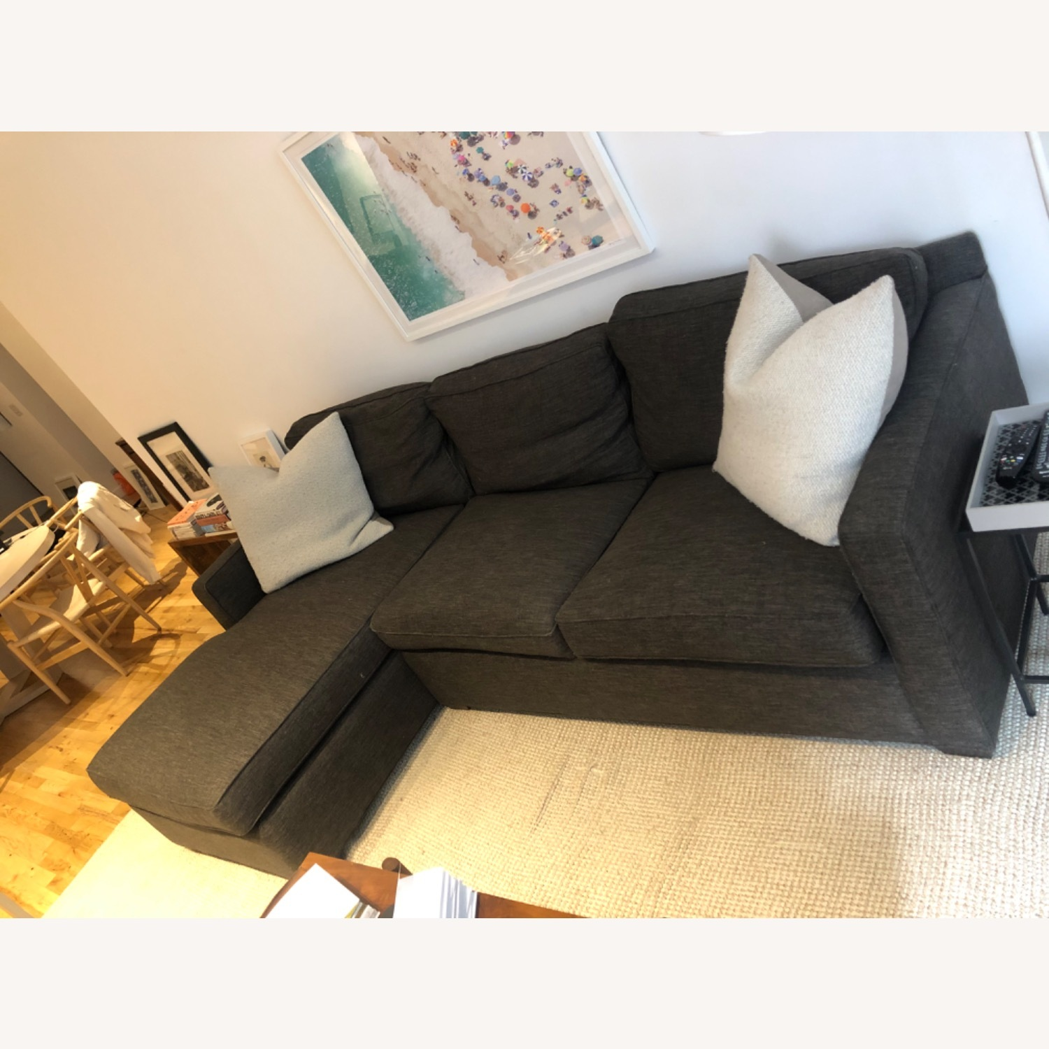 Crate and Barrel Sectional Sofa - image-2