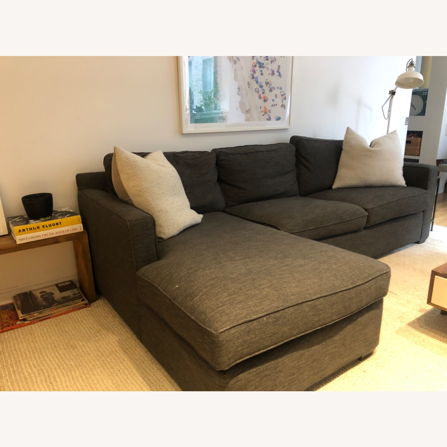 Crate and Barrel Sectional Sofa - image-1