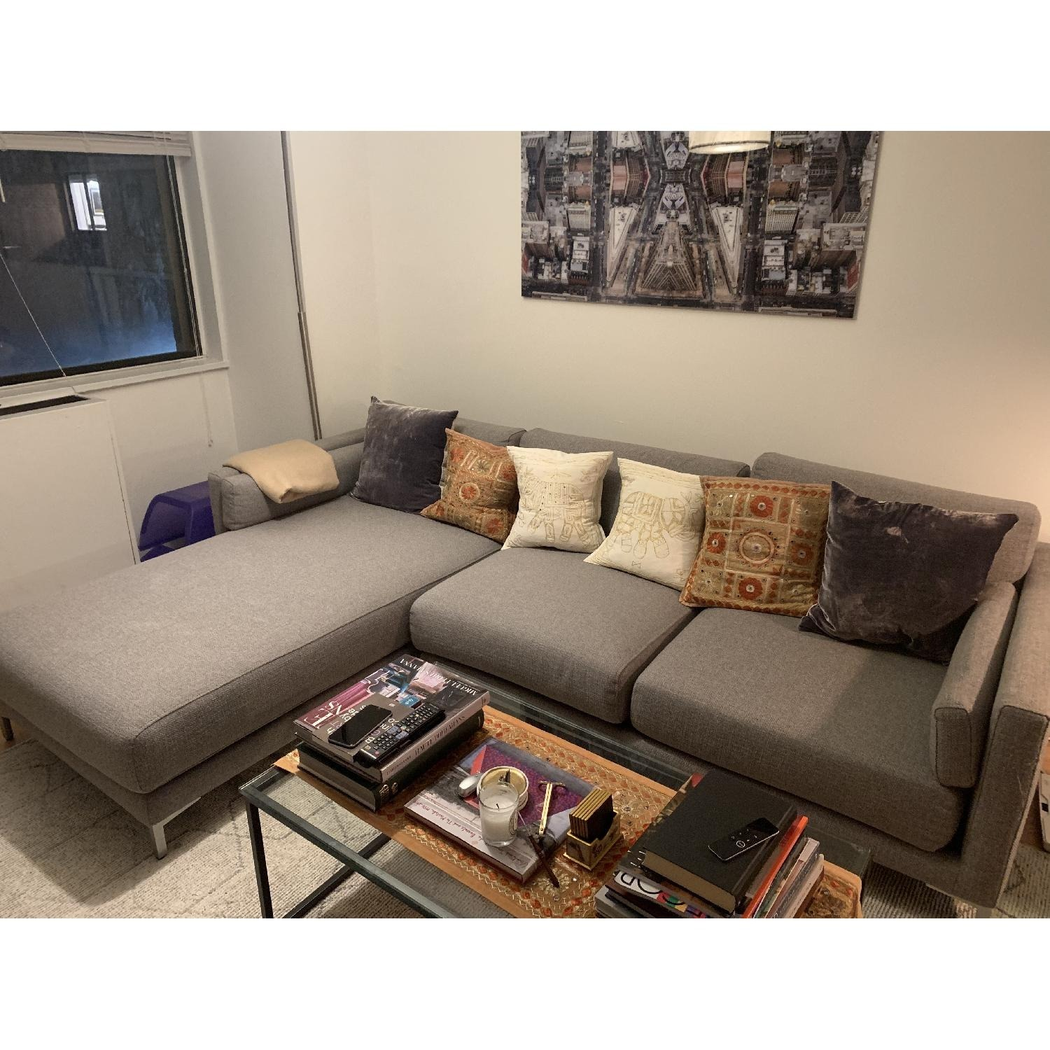 CB2 District 2-Piece Sectional Sofa - image-2