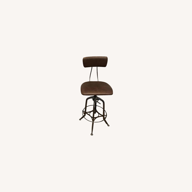 Restoration Hardware Toledo Leather Bar Chairs - image-0