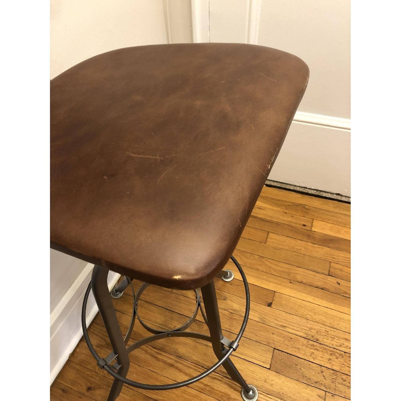 Restoration Hardware Toledo Leather Bar Chairs - image-5
