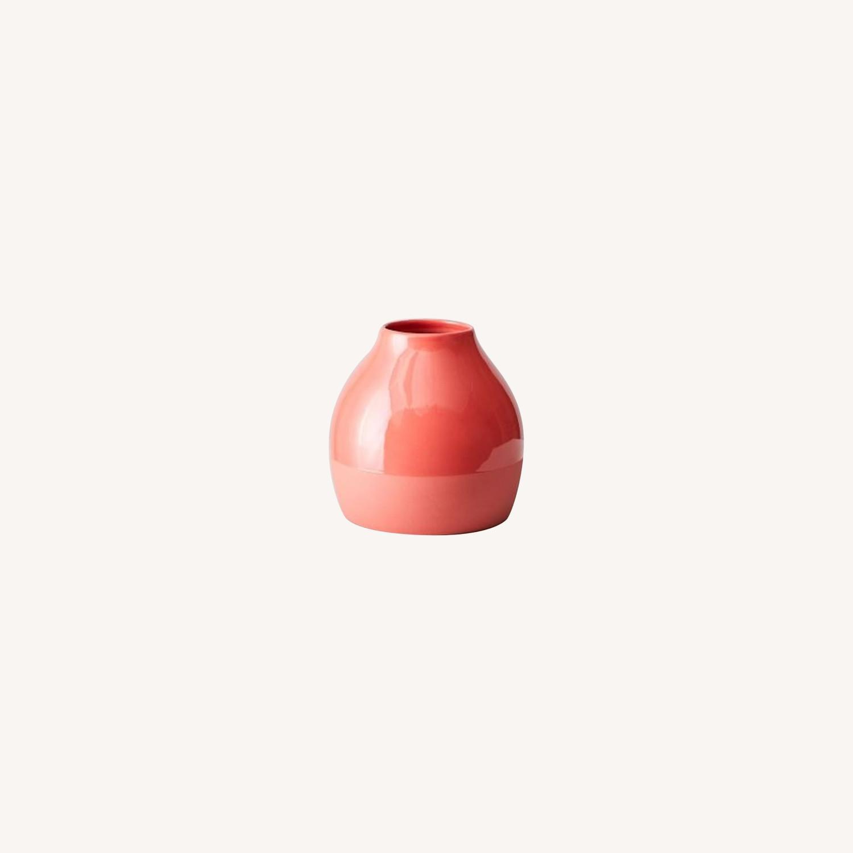 West Elm Bright Ceramicist Vase, Wide, Red - image-0