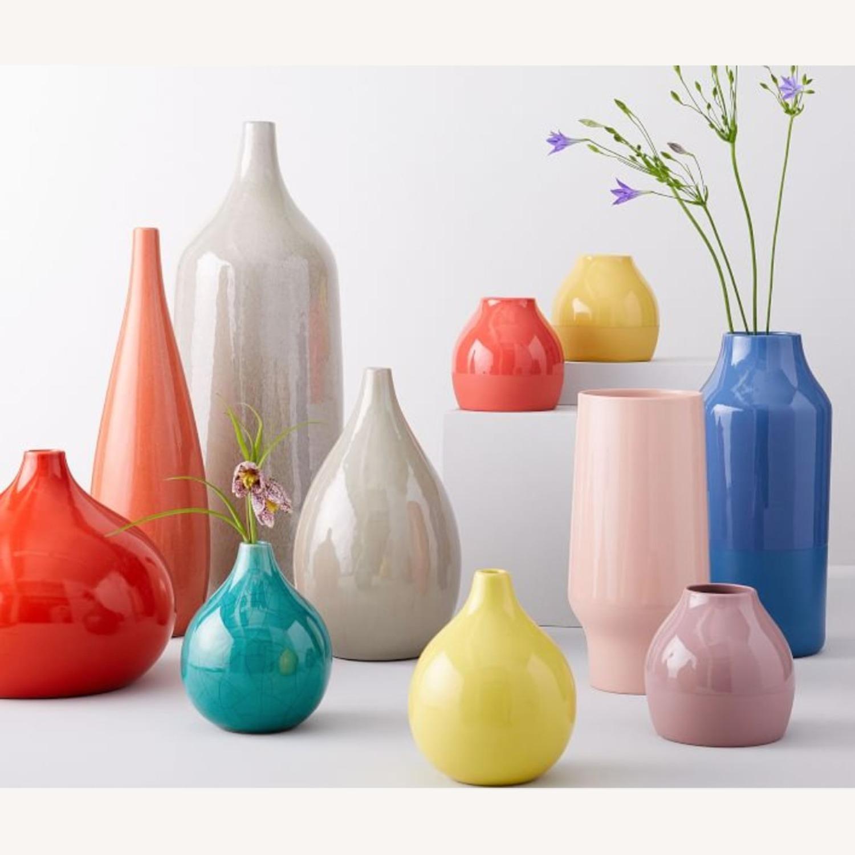 West Elm Bright Ceramicist Vase, Wide, Red - image-1