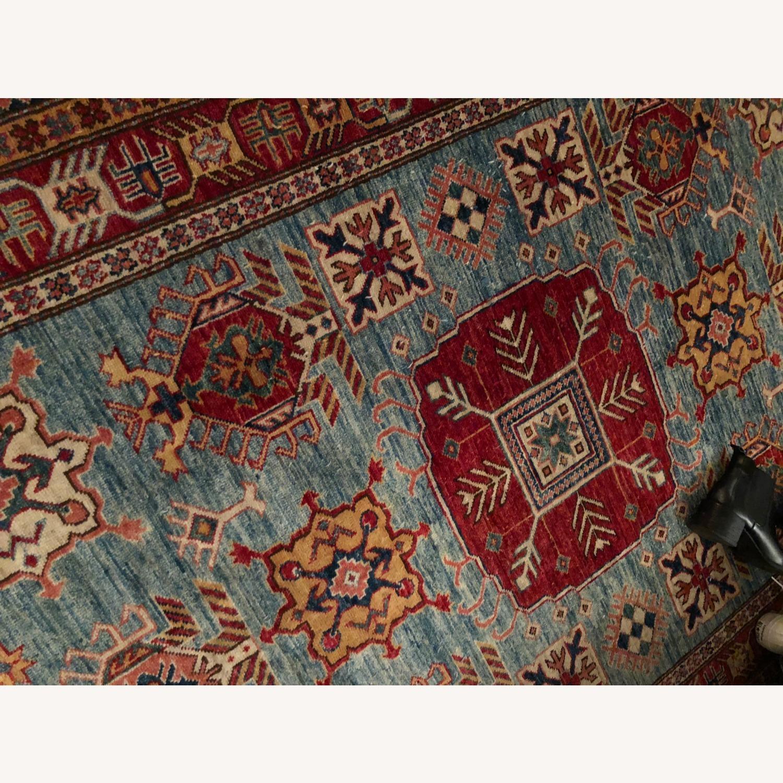 Vintage Multi Color Afghan Rug - image-1