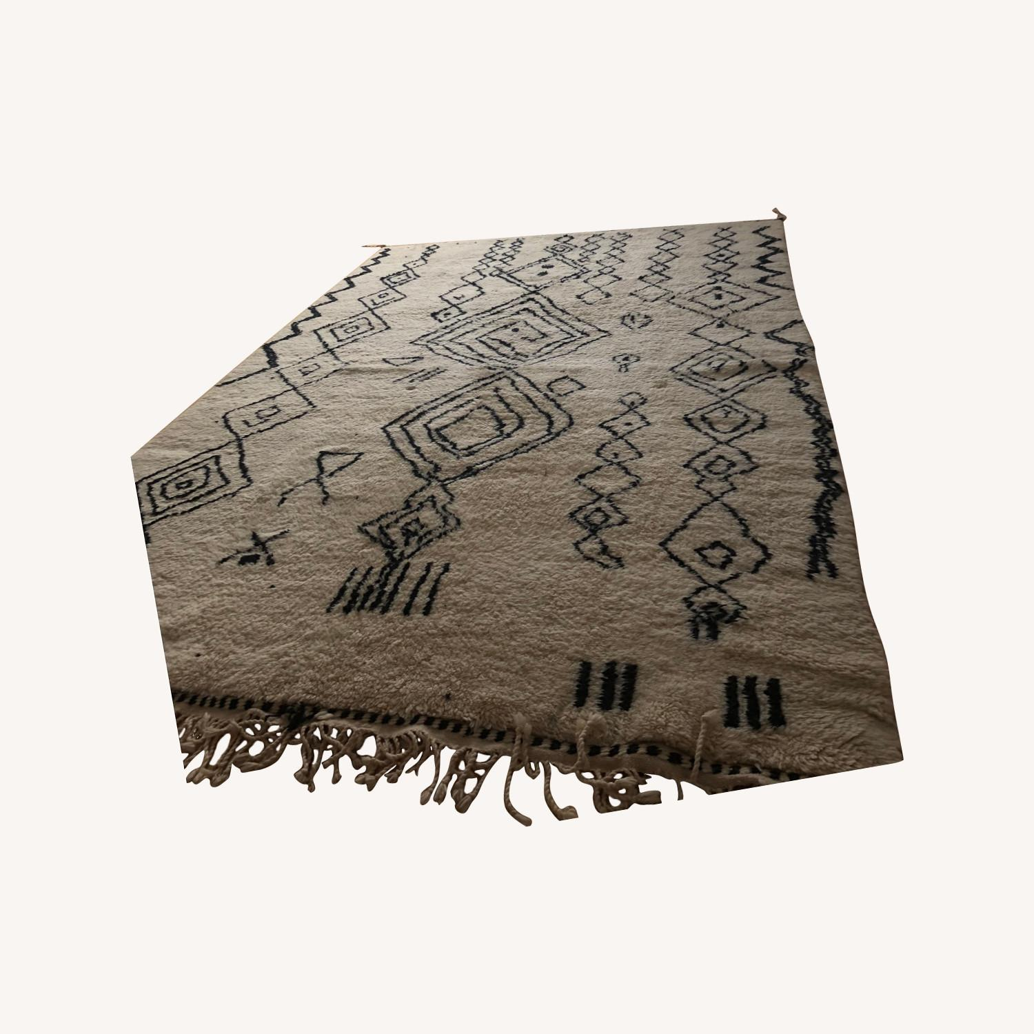 Authentic Large Wool Moroccan Rug - image-0