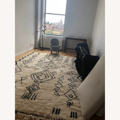 Used Authentic Large Wool Moroccan Rug for sale on AptDeco