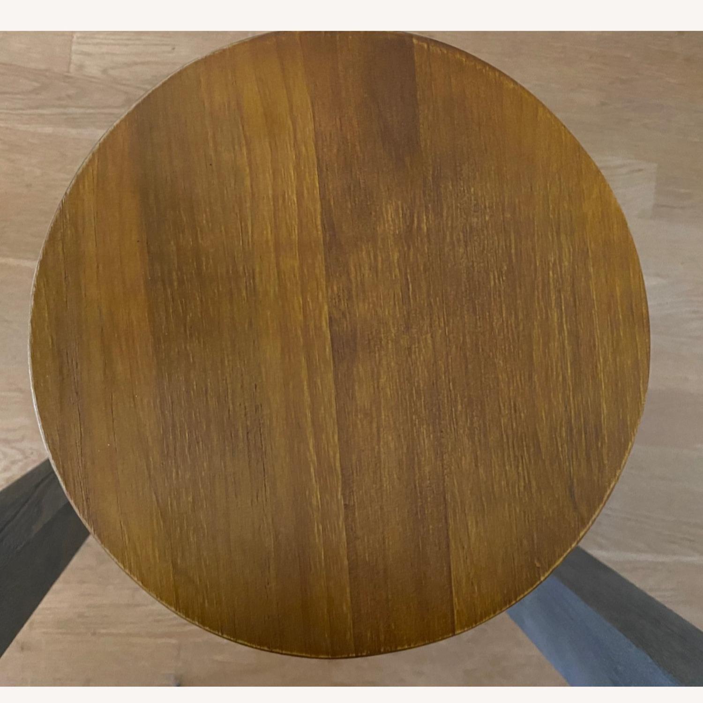 Wood/metal Adjustable Bar Stools - image-3