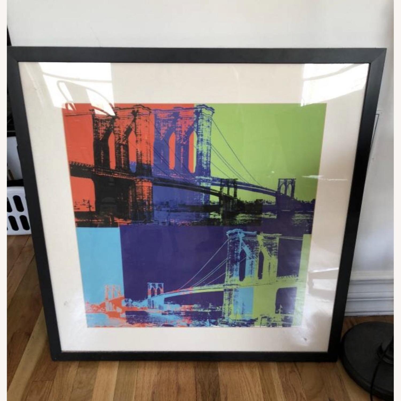 Andy Warhol Brooklyn Bridge Framed Print - image-2