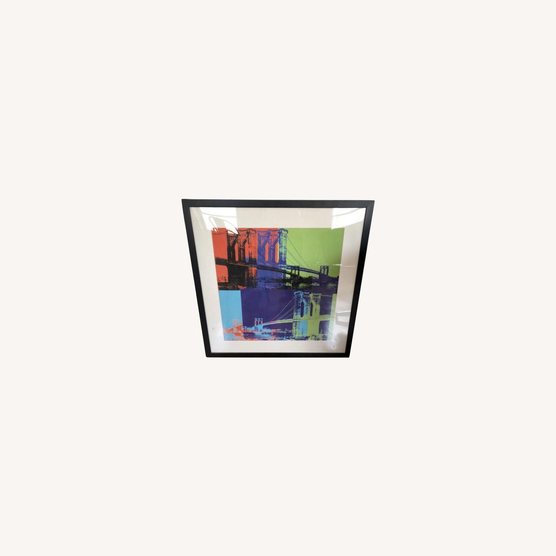 Andy Warhol Brooklyn Bridge Framed Print - image-0