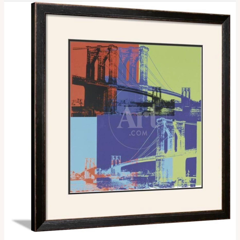 Andy Warhol Brooklyn Bridge Framed Print - image-1