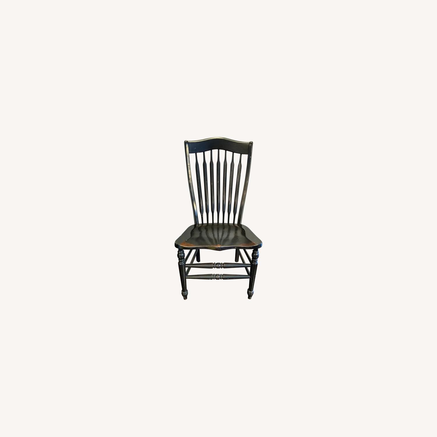 Five Vintage Nichols & Stone Windsor Chairs - image-0