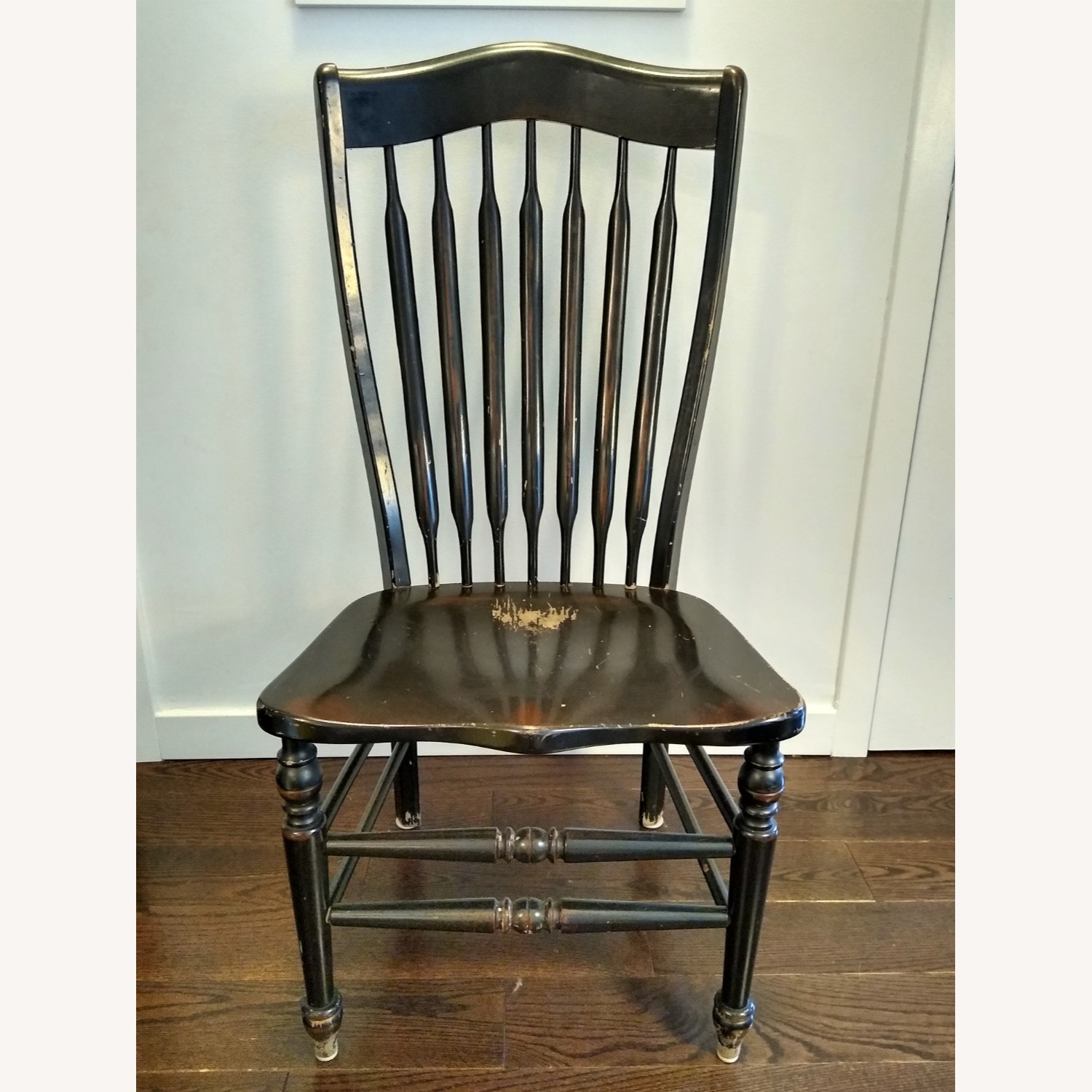 Five Vintage Nichols & Stone Windsor Chairs - image-4
