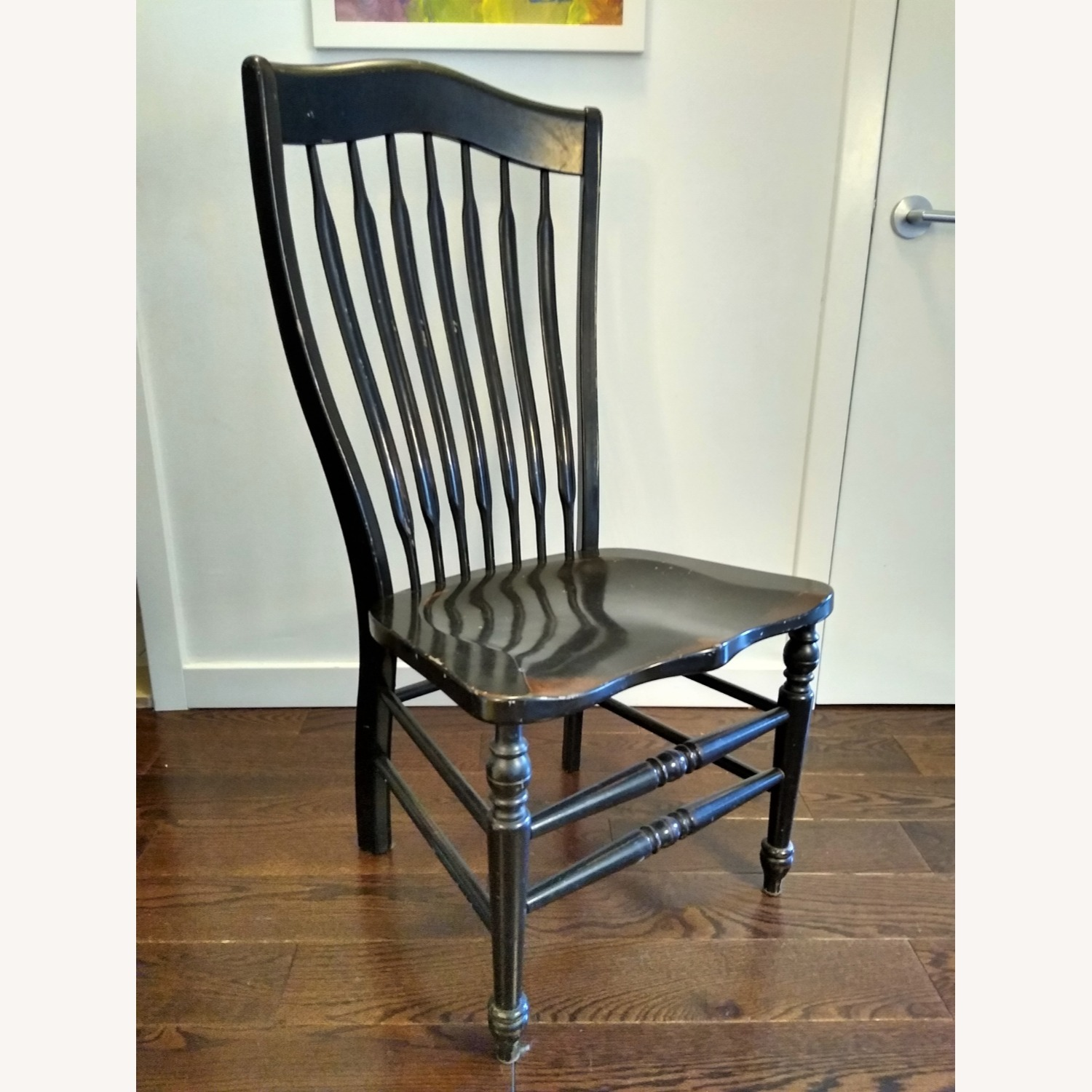 Five Vintage Nichols & Stone Windsor Chairs - image-2