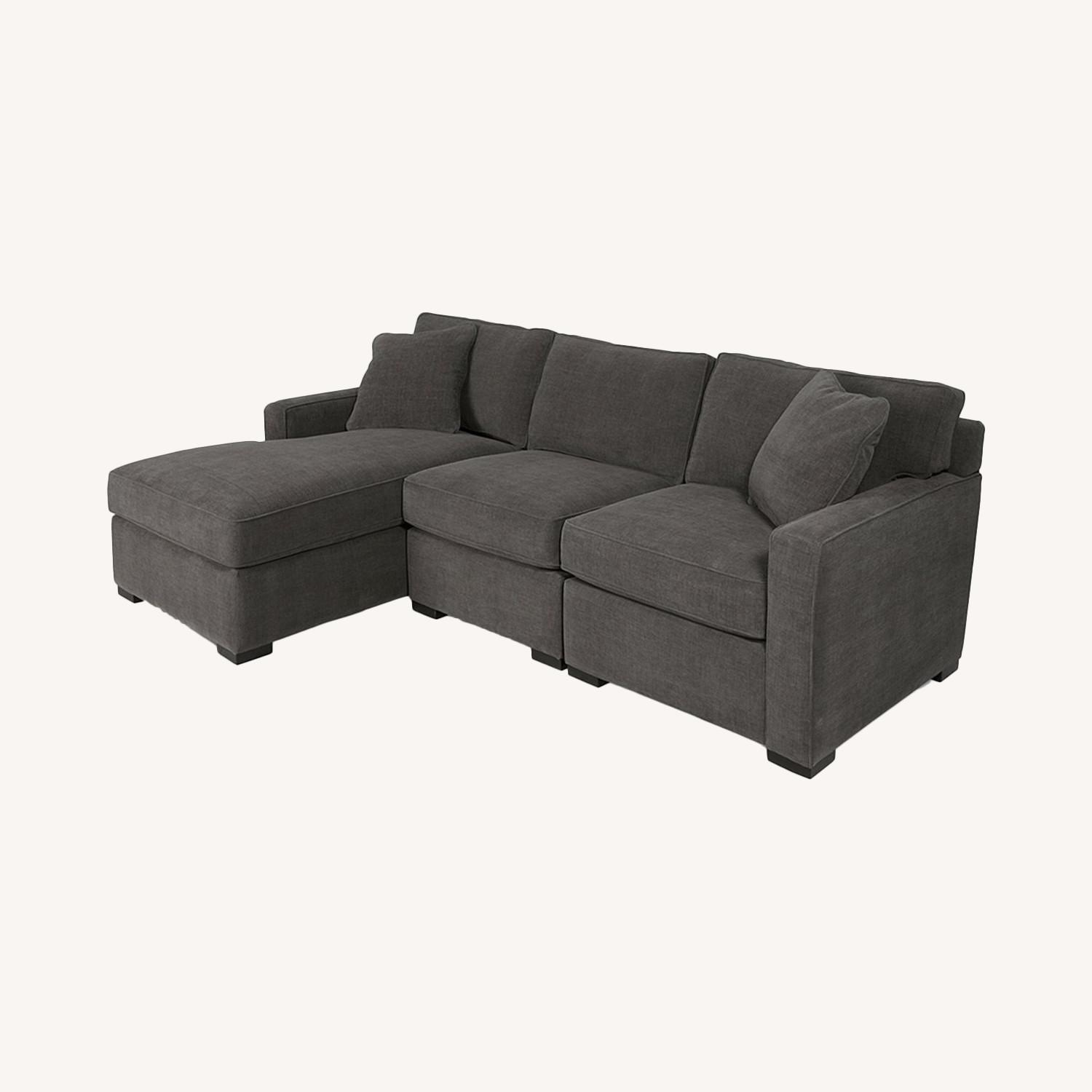 Macy's 3 Piece Sectional Sofa with Chase - image-0