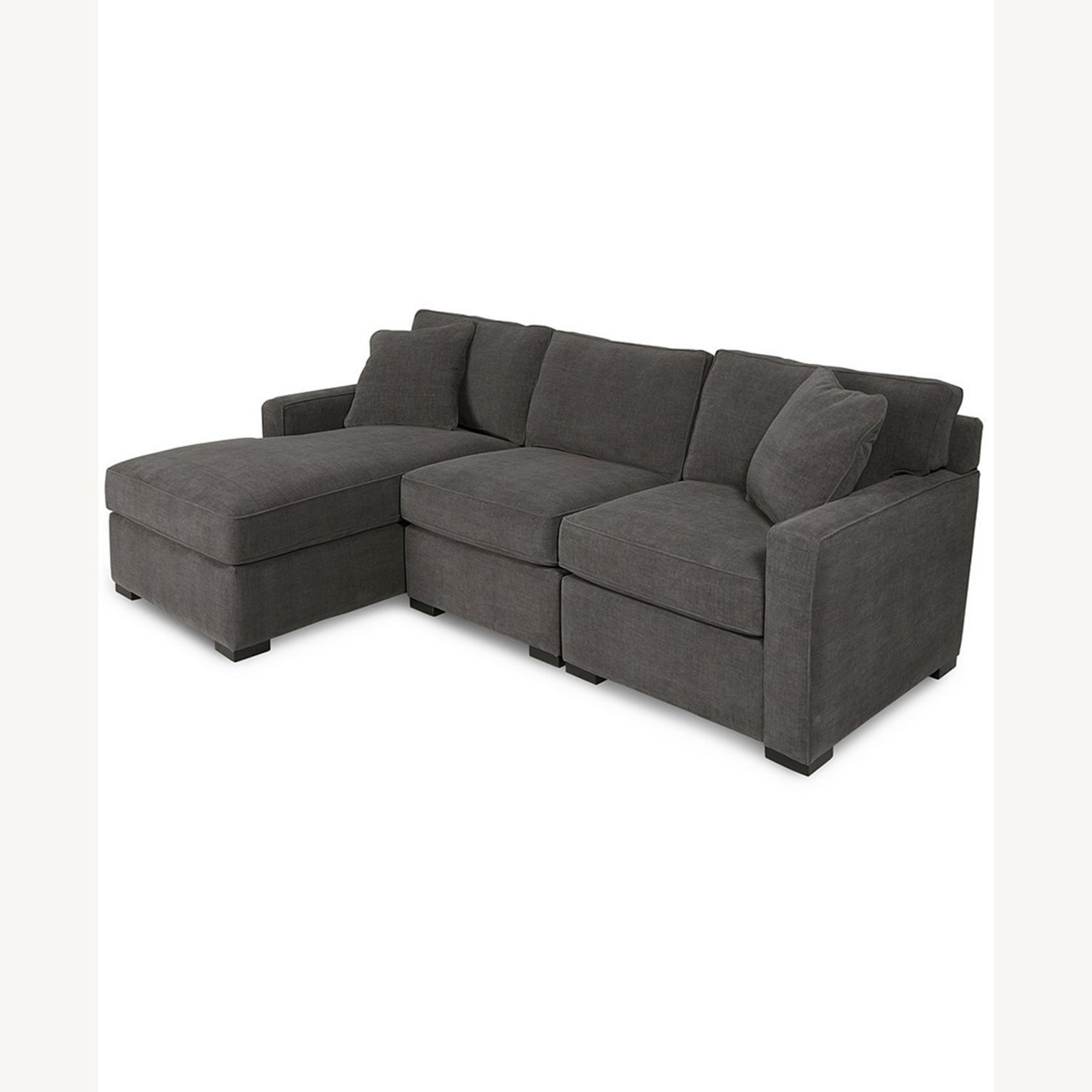 Macy's 3 Piece Sectional Sofa with Chase - image-1