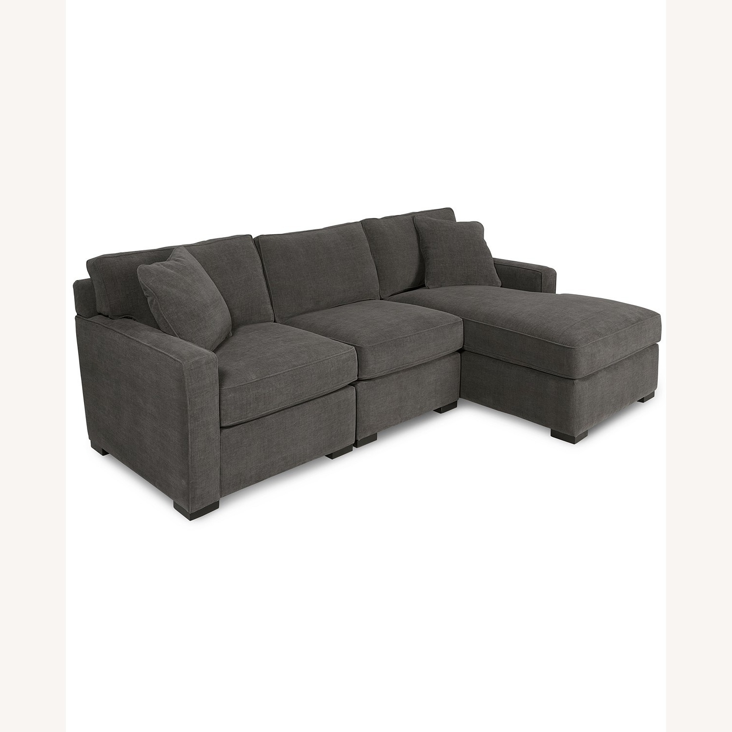 Macy's 3 Piece Sectional Sofa with Chase - image-2
