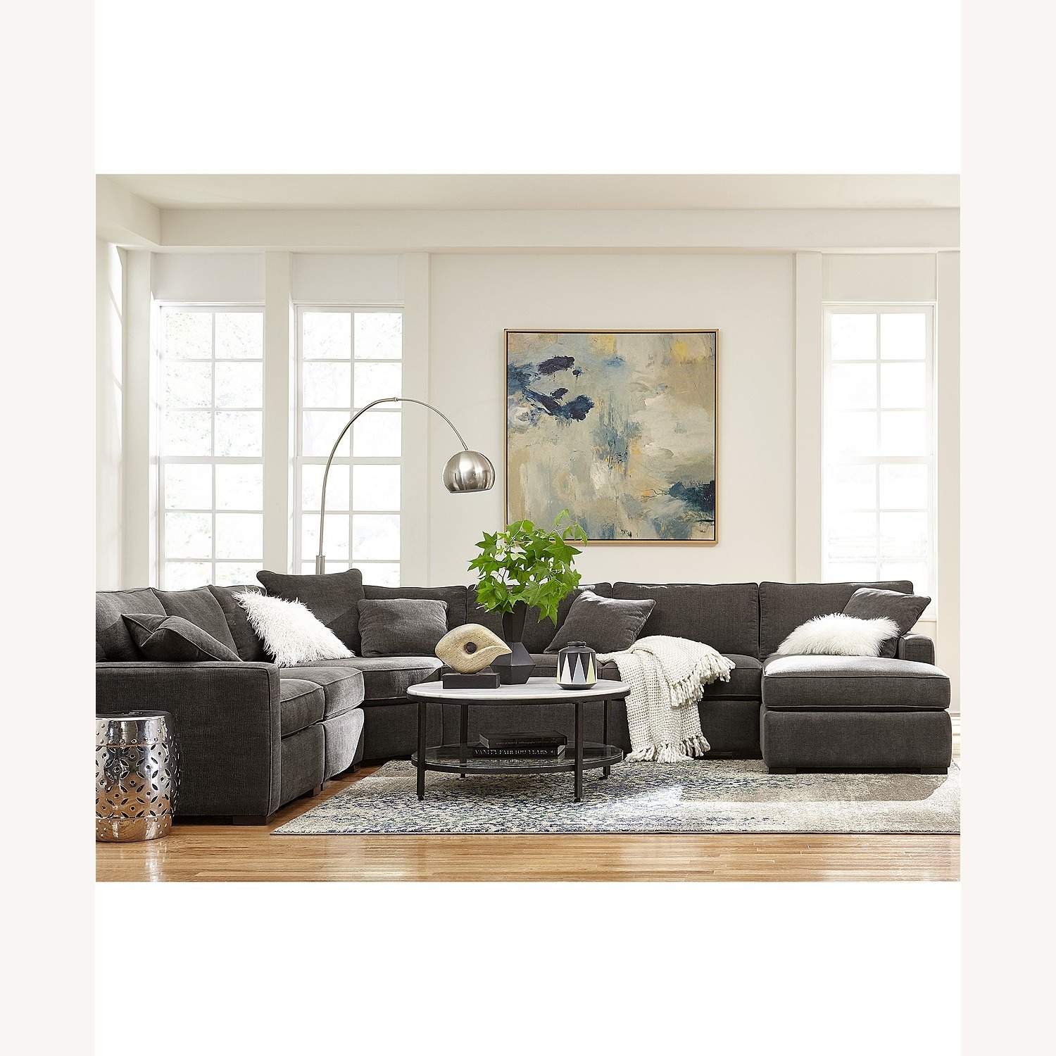 Macy's 3 Piece Sectional Sofa with Chase - image-3
