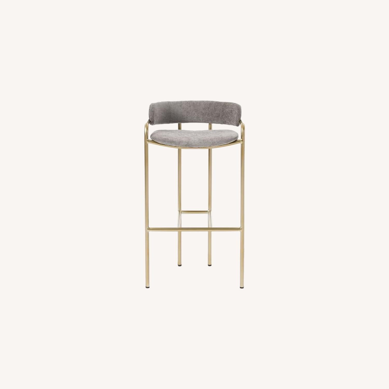 West Elm Lenox Upholstered Counter Stool - image-0
