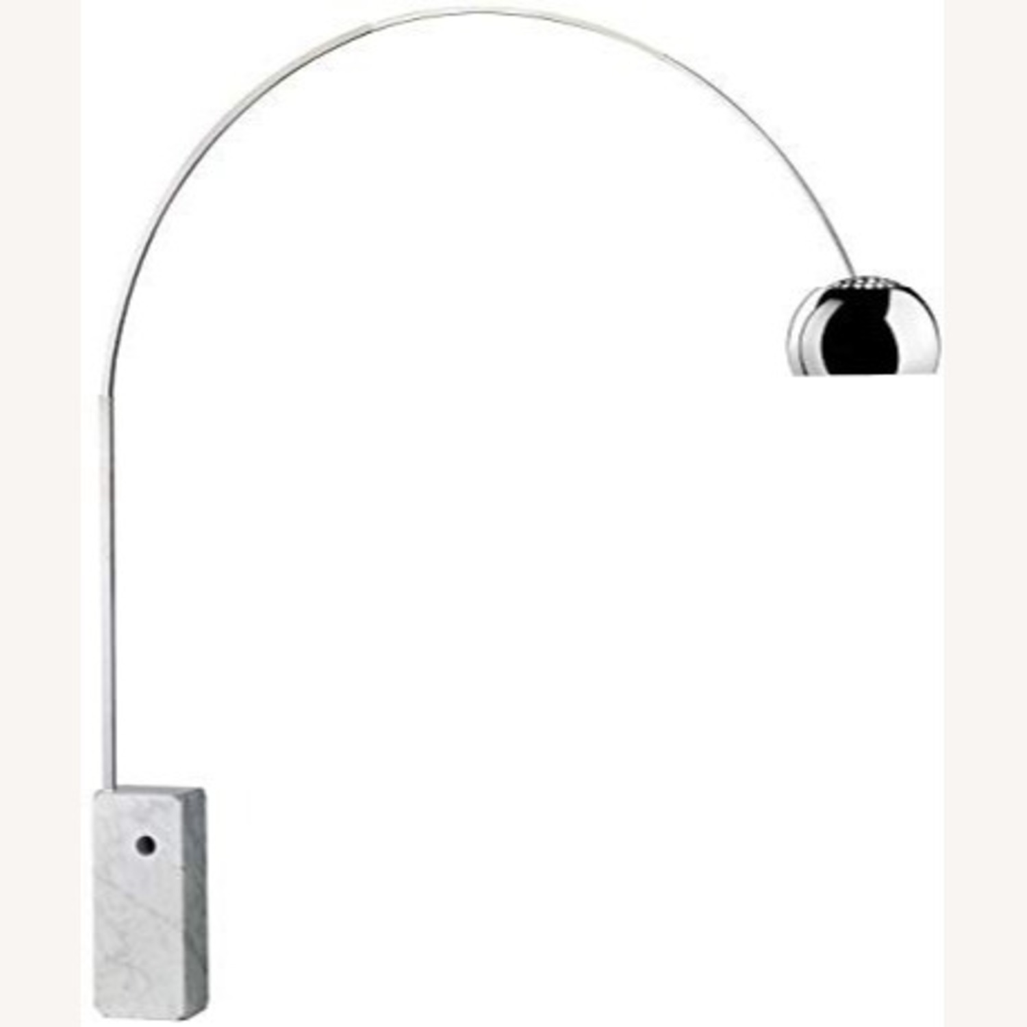 Arc Lamp with Genuine Marble Base - image-1