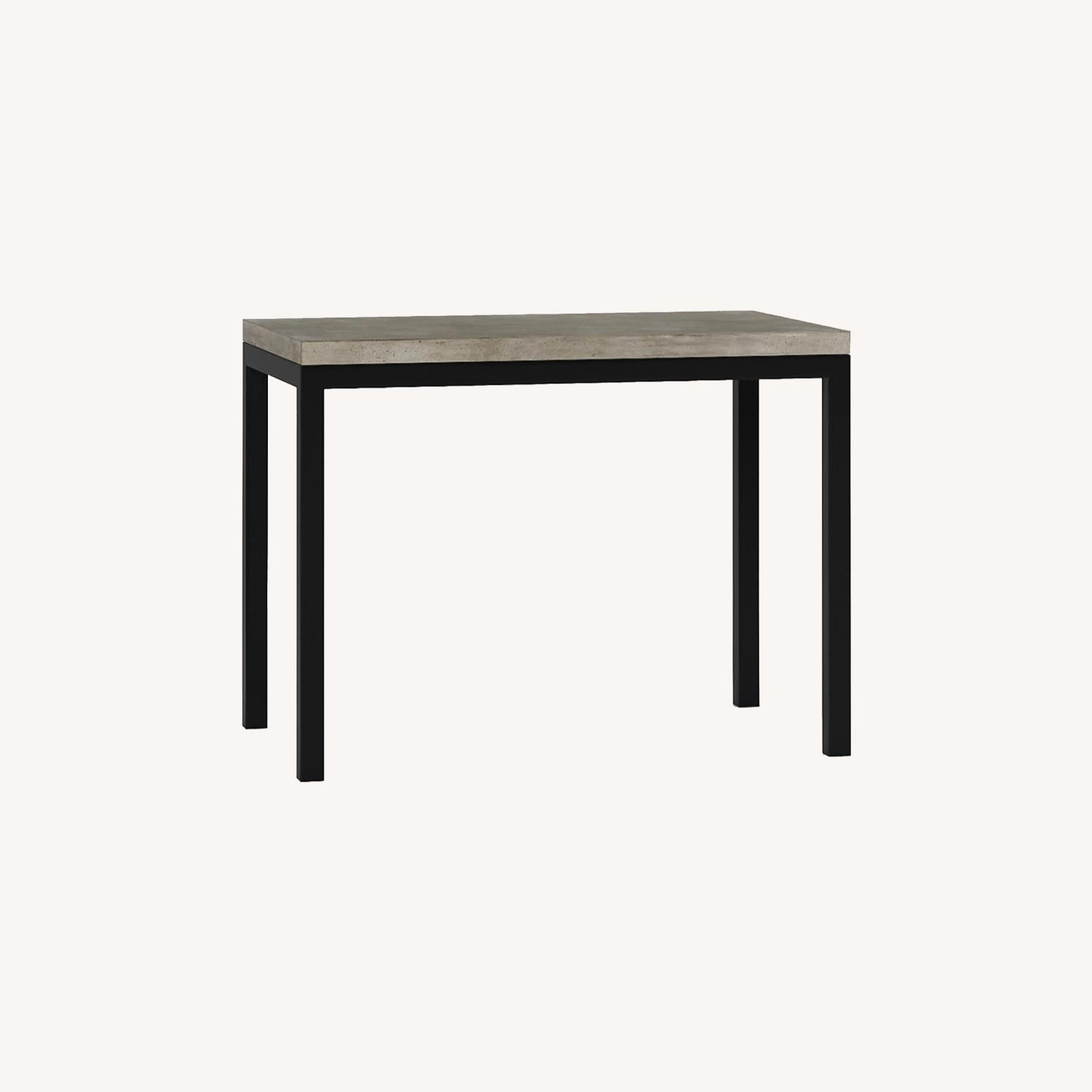 Crate & Barrel Concrete High Dining Table - image-0