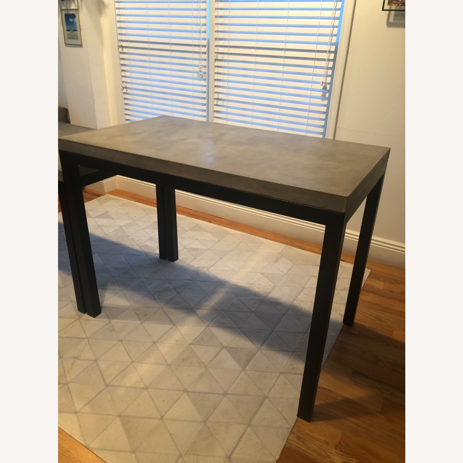 Crate & Barrel Concrete High Dining Table - image-1