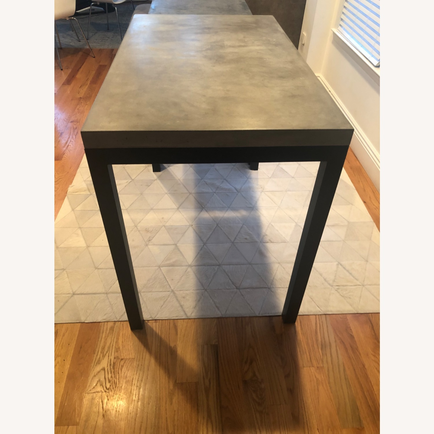 Crate & Barrel Concrete High Dining Table - image-2