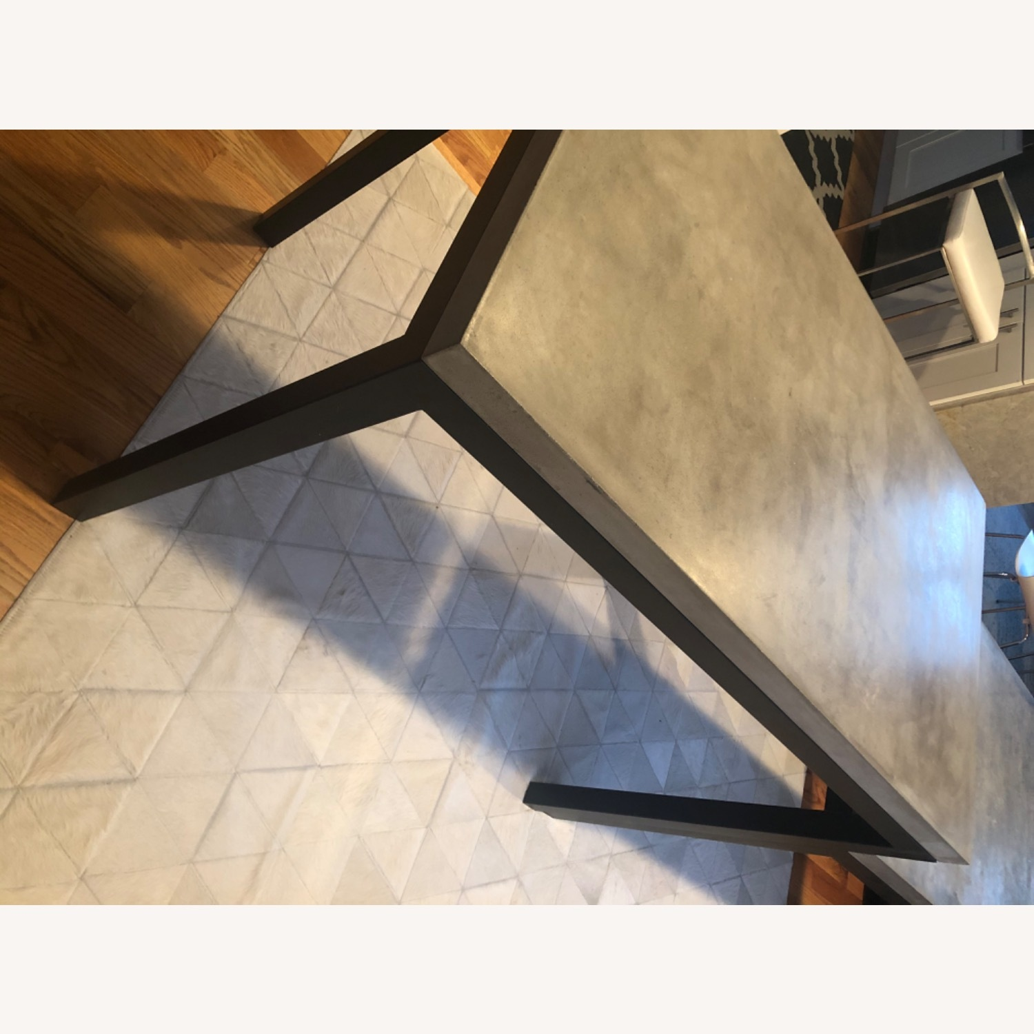 Crate & Barrel Concrete High Dining Table - image-12